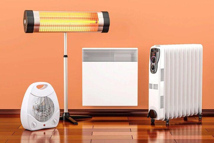 différents chauffages électriques