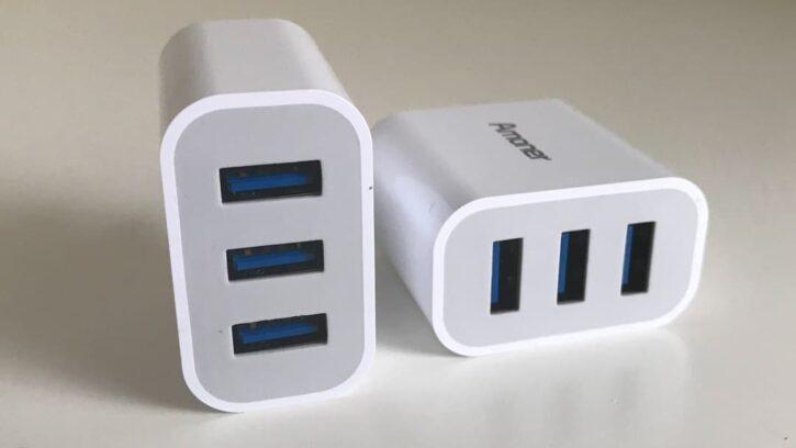 Chargeur secteur USB d'amoner