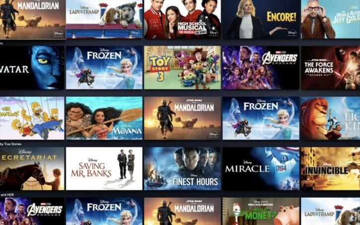les titres disponibles sur Disney Plus