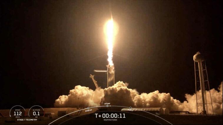 Décollage de la fusée Falcon 9 de SpaceX