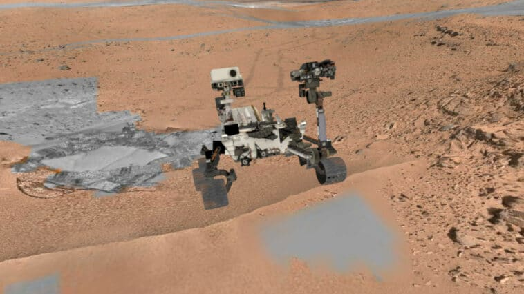 Planète Mars et rover Perseverance