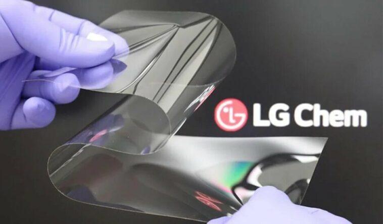 nouvel écran LG pour smartphone pliable