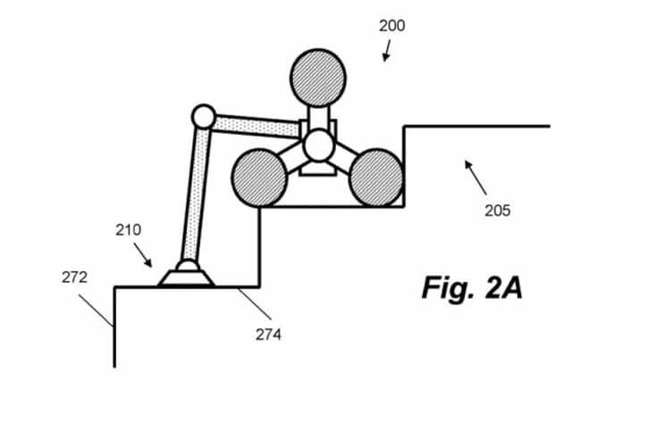Dessin du robot aspirateur Dyson pour les escaliers