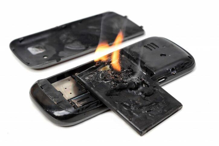 batterie en feu